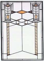 Robie House I Art Glass-0