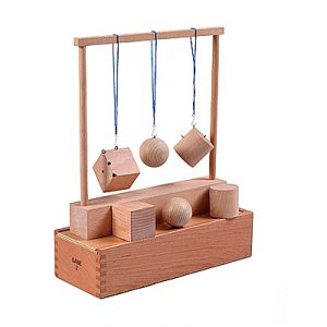 Froebel Gift 2 - Sphere, Cylinder & Cube-0