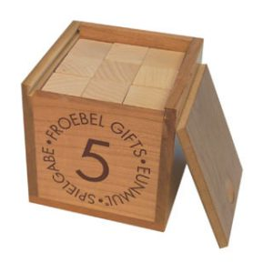 Froebel Gift 5 - Cubes & Triangular Prisms-0