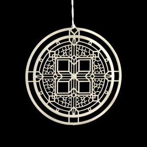 Husser House 2D Ornament-0