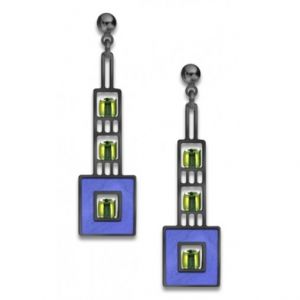Elmslie Detail Earrings - Blue-0