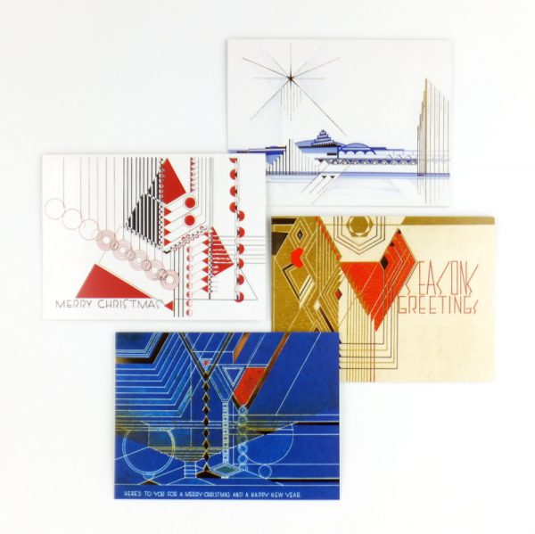 FLLW Holiday Luxe Notecard Set-1927