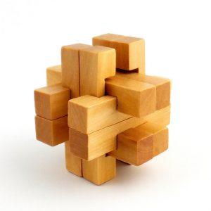 Square 3D Wood Puzzle-0