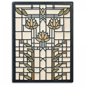 Waterlilies Tile - Cream-0