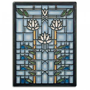 Waterlilies Tile - Blue-0