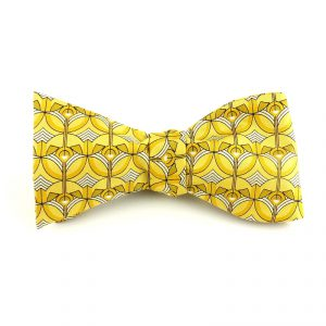 Greek Orthodox Screen Bow Tie - Yellow-0