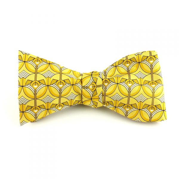 Greek Orthodox Screen Bow Tie - Yellow-0