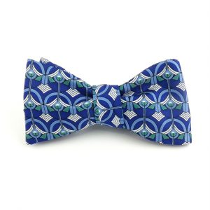 Greek Orthodox Screen Bow Tie - Navy-0
