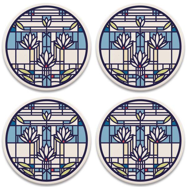Waterlilies Coasters-0